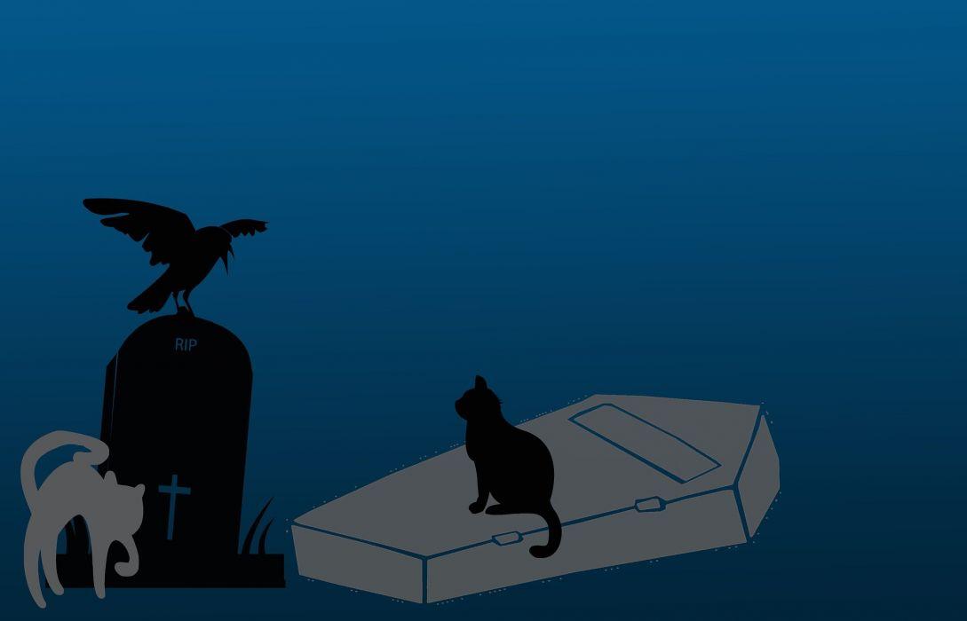 Halloween Scary Background Cartoon Dark Blue Grey wallpaper
