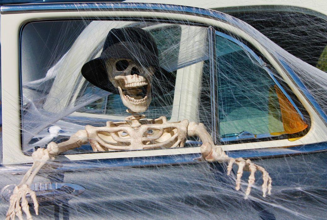 Skeleton Decoration Halloween Death skull wallpaper