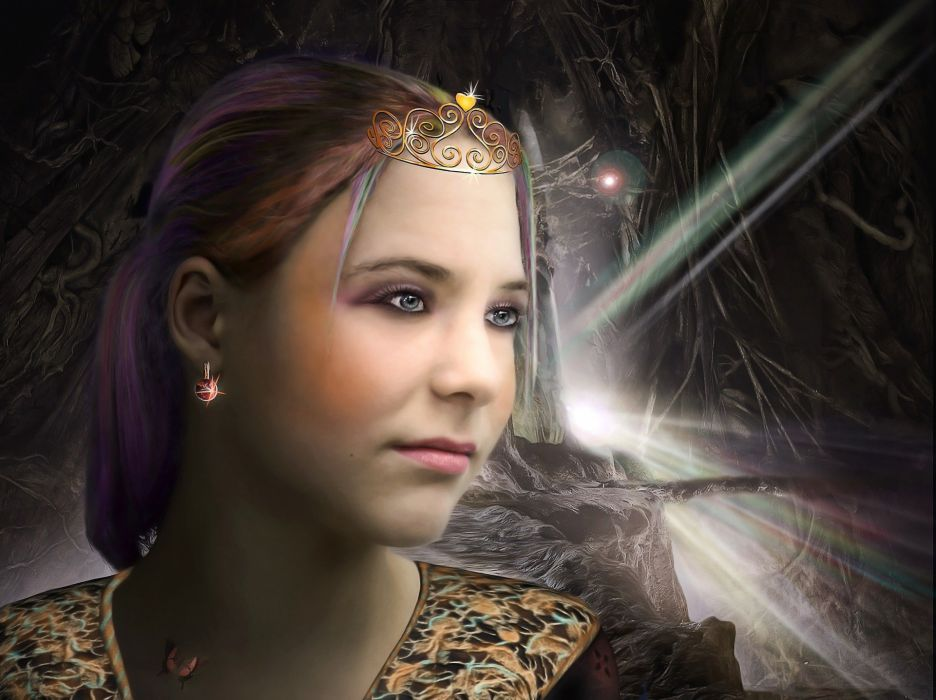 Fantasy Girl Mystical Fairytale princess queen wallpaper