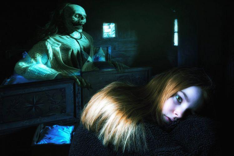 Gothic Fantasy Dark Female Scary Girl Horror wallpaper