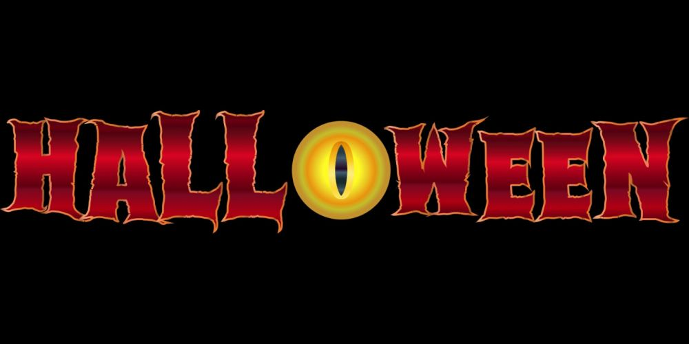 Halloween Evil Eye Scary Spooky Festive Typography wallpaper