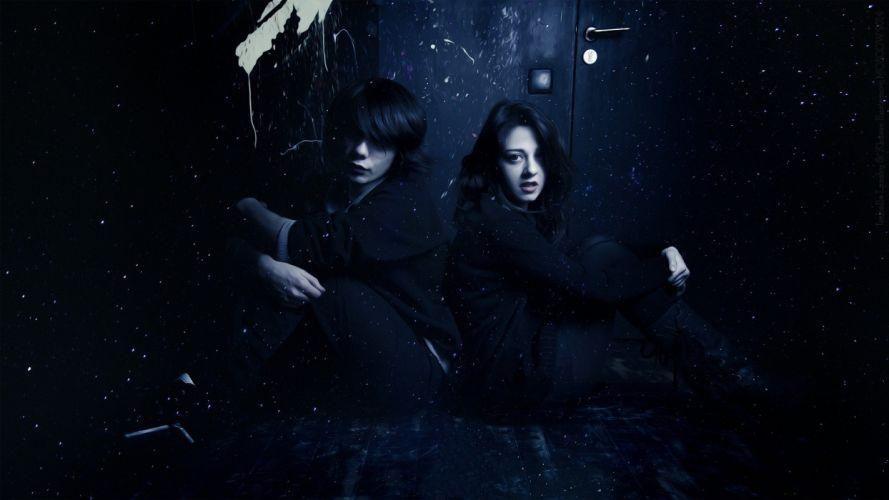 Vampire Couple Spooky Gothic Fog Night wallpaper