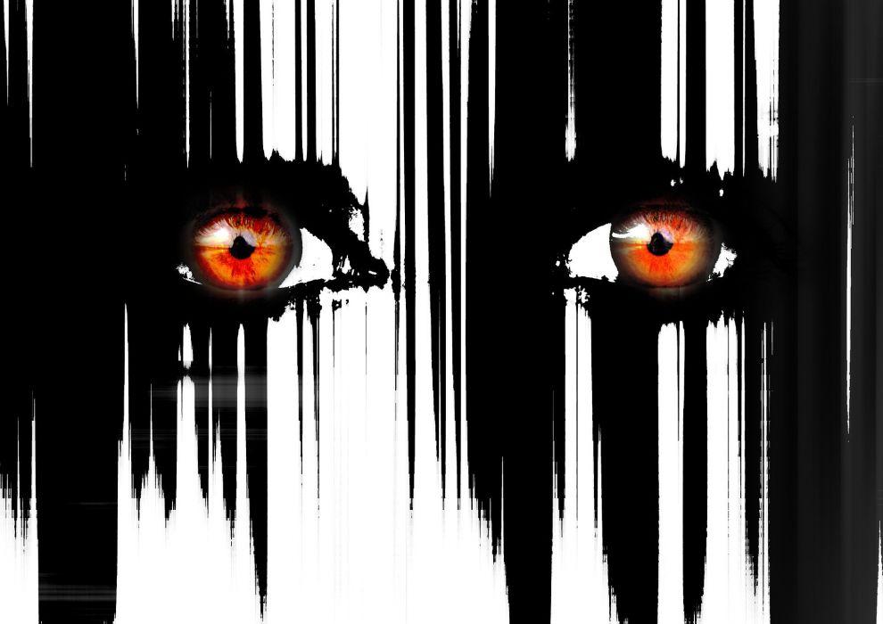 dark eyes horror evil eye werewolf wallpaper