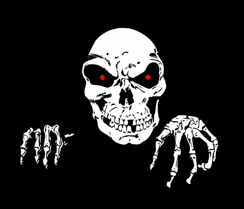 Death Halloween Horror skull wallpaper