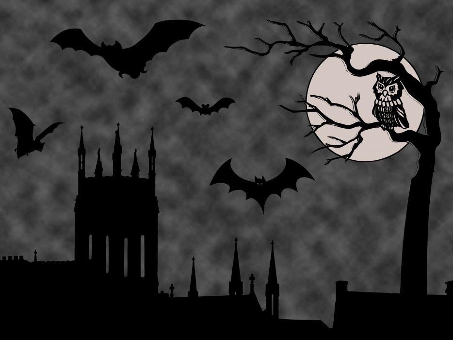 Halloween Background Halloween Scene Spooky Castle wallpaper