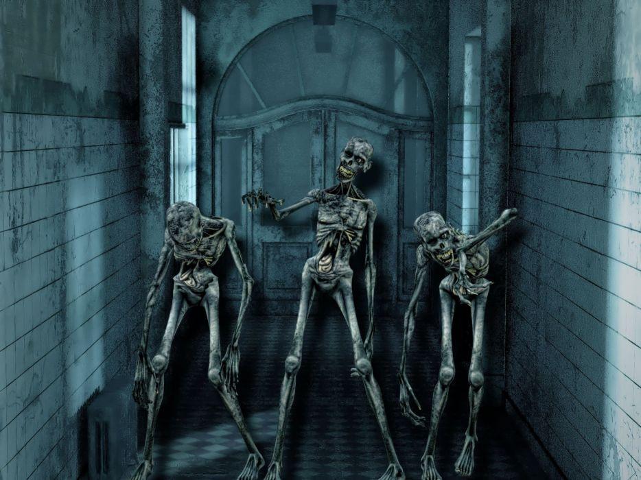Halloween Skeleton Wallpaper.Horror Skeleton Skull Weird Halloween Scary Skull Wallpaper