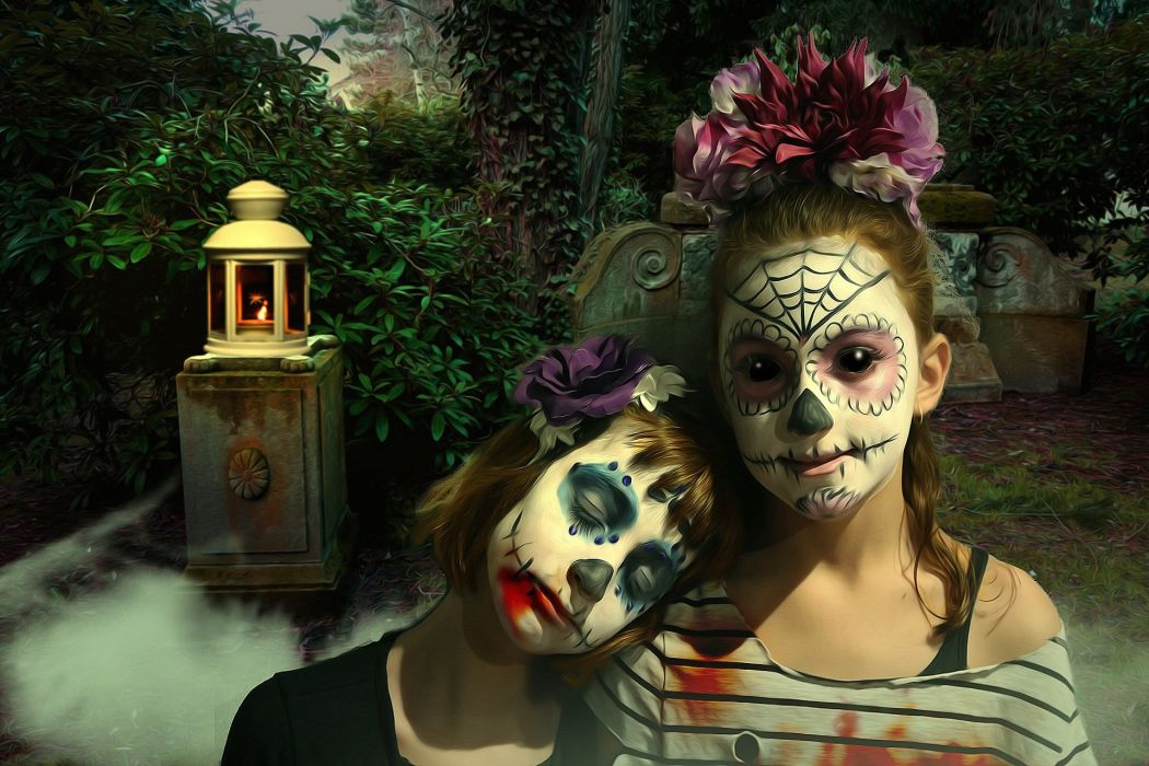 Gothic Fantasy Dark Fear Horror Sugar Skull wallpaper