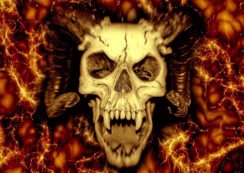 Mask Fash Face Devil Tooth Horror Fear Hell demon skull evil fractal wallpaper
