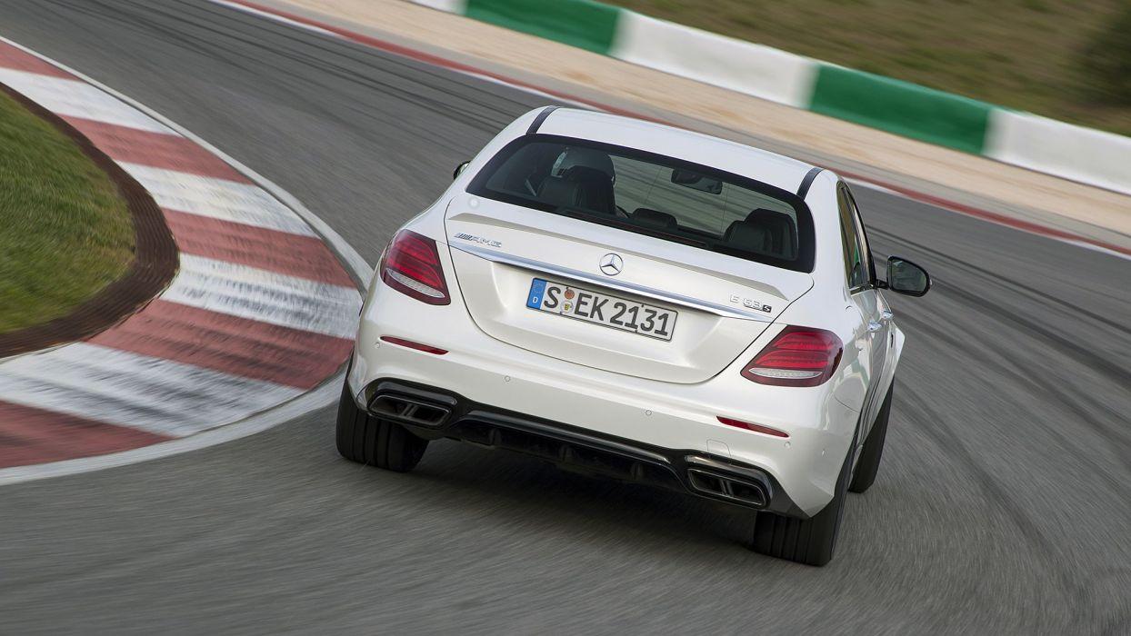 2017 Mercedes AMG E63S cars sedan white wallpaper