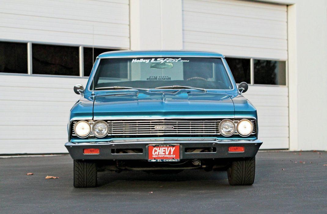 1966 chevy cars El Camino pickup modified wallpaper