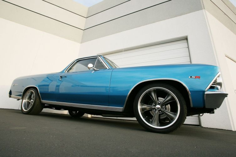 1966 chevy cars El Camino pickup modified wallpaper