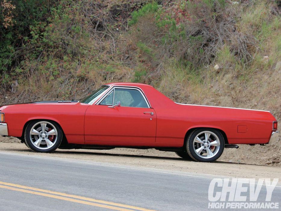 1972 chevy cars El Camino pickup modified wallpaper