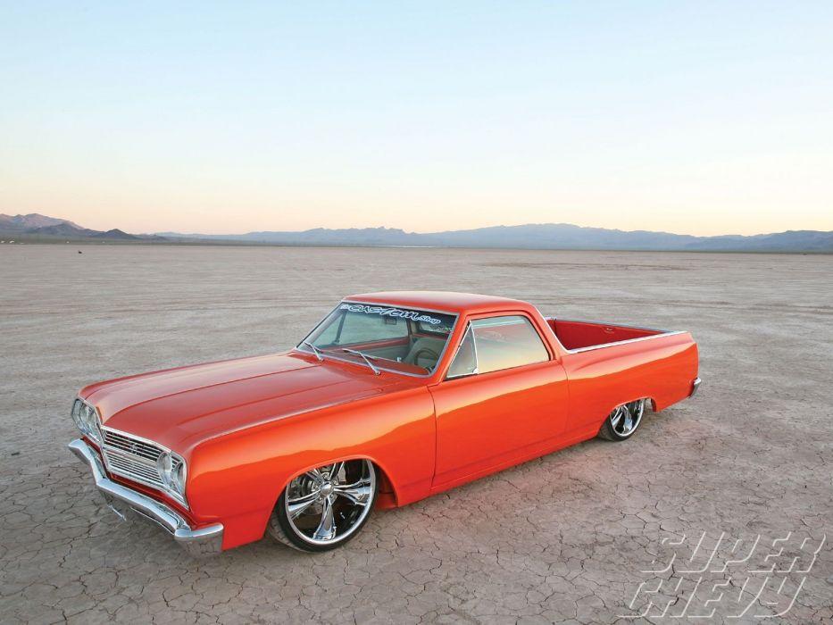 1965 chevy cars El Camino pickup modified wallpaper