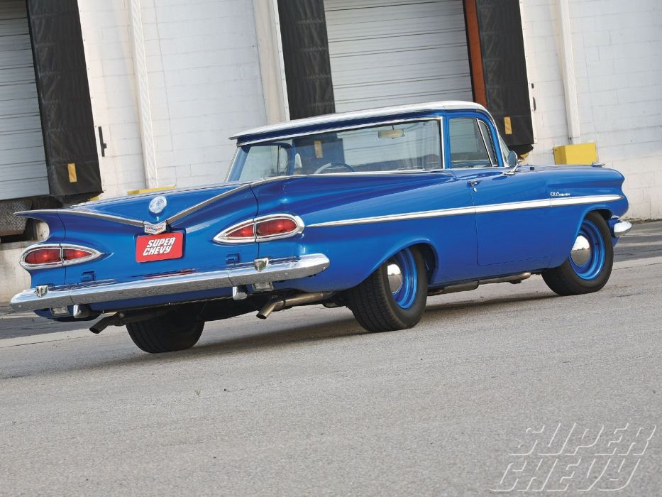 1959 chevy cars El Camino pickup modified wallpaper