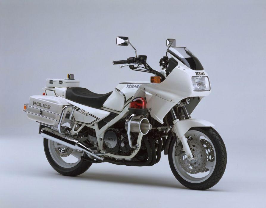 Yamaha FZ750 Police motorcycles 1991 wallpaper