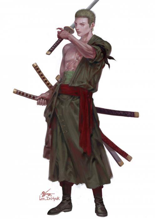 artstation original anime characterONE PIECE#Roronoa Zoro#In-Hyuk Lee wallpaper