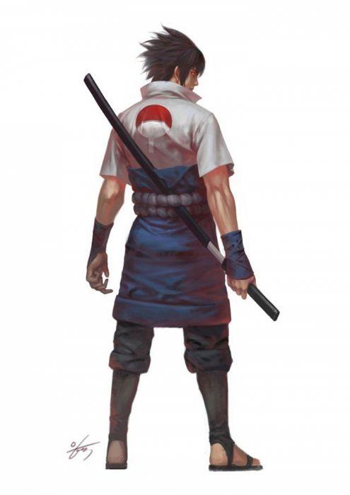 artstation original anime characterDigital 2D#NARUTO#Sasuke Uchiha#in-hyuk lee wallpaper