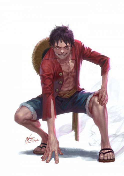 artstation original anime character#Digital 2D#ONE PIECE#Monkey D Luffy#in-hyuk lee wallpaper