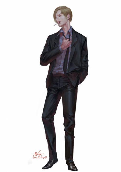 artstation original anime character#one piece#sanji#inhyuklee wallpaper