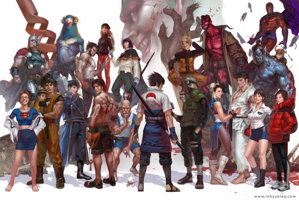 artstation original anime character#Digital 2D#in-hyuk lee characters wallpaper