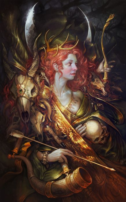 sabbas-apterus-diana beautiful artstation original fantasy girl  wallpaper