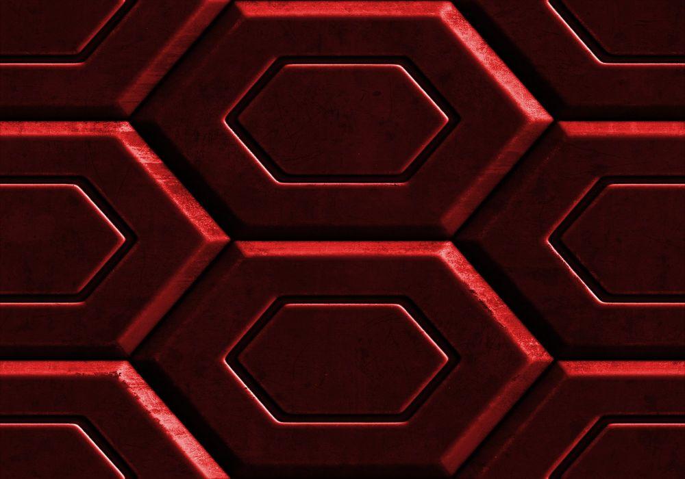 Red Metal Hex wallpaper