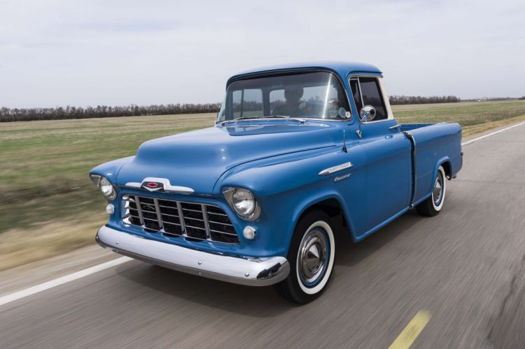 1956 Cameo chevy pickup blue wallpaper