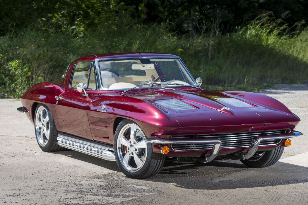 1963 chevy Corvette cars (c2) modified wallpaper