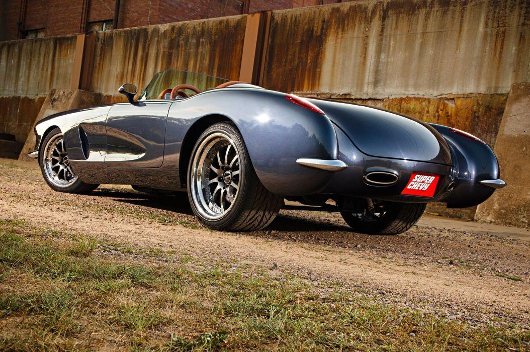 1959 chevy Corvette cars (c1) modified custom wallpaper