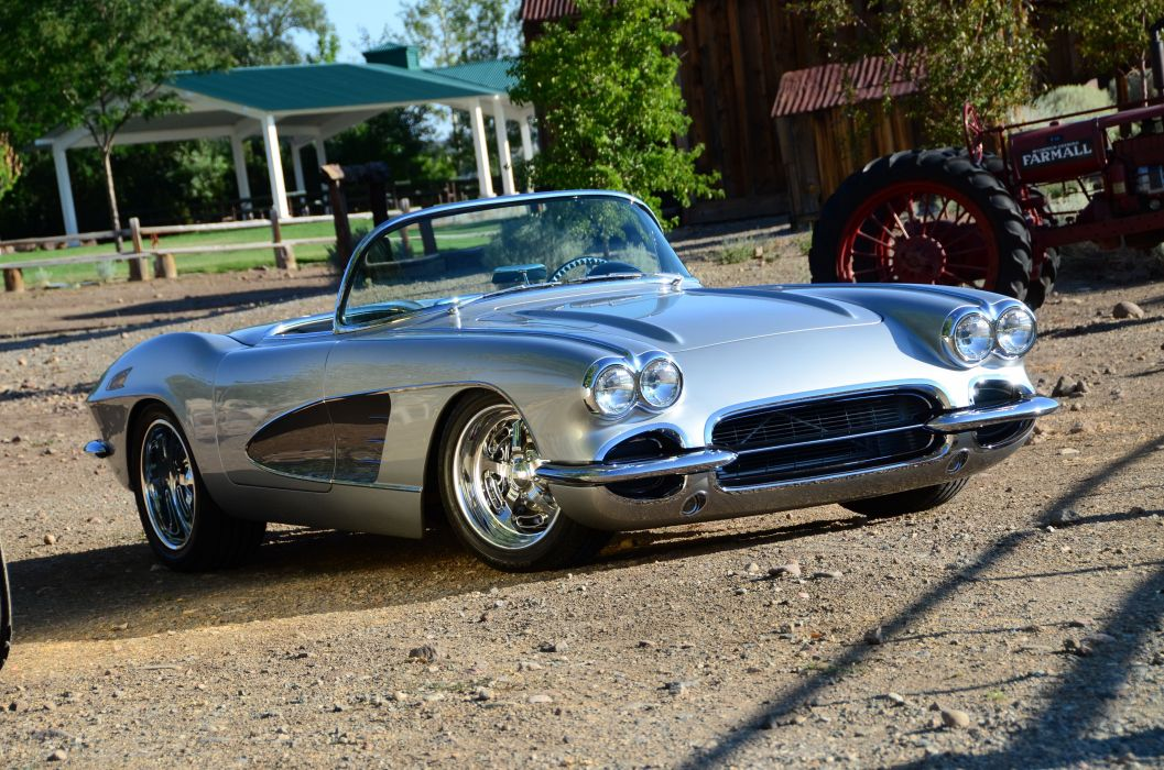 1961 chevy Corvette cars (c1) modified wallpaper