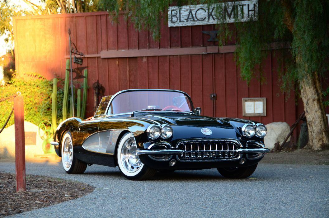 1958 chevy Corvette cars (c1) modified wallpaper