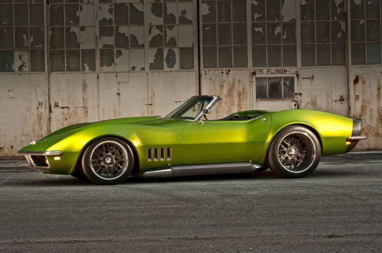 1968 chevy Corvette cars (c3) convertible green modified wallpaper