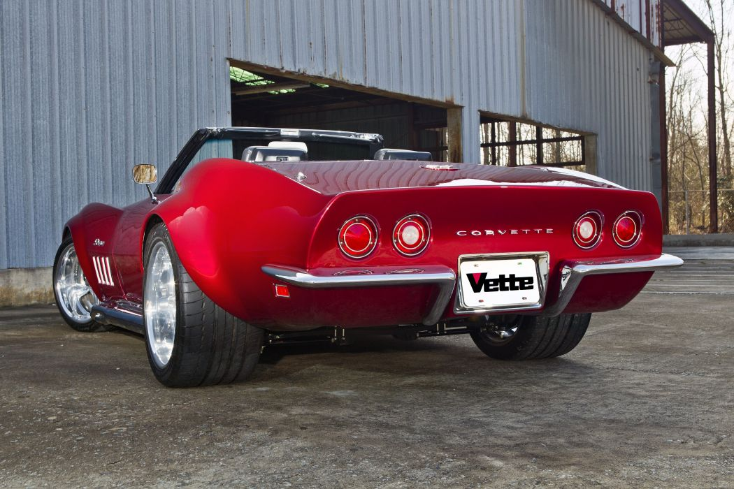 1969 chevy Corvette cars (c3) red convertible modified wallpaper