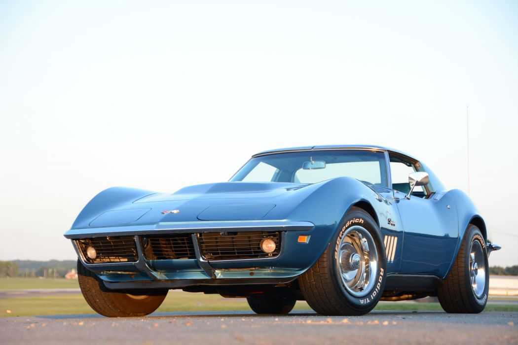 1969 chevy Corvette cars (c3) blue modified wallpaper