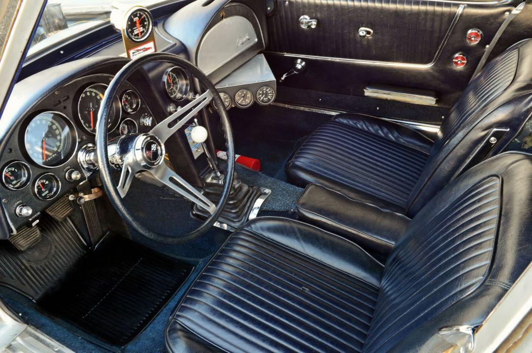 1963 chevy Corvette cars (c2) silver modified wallpaper