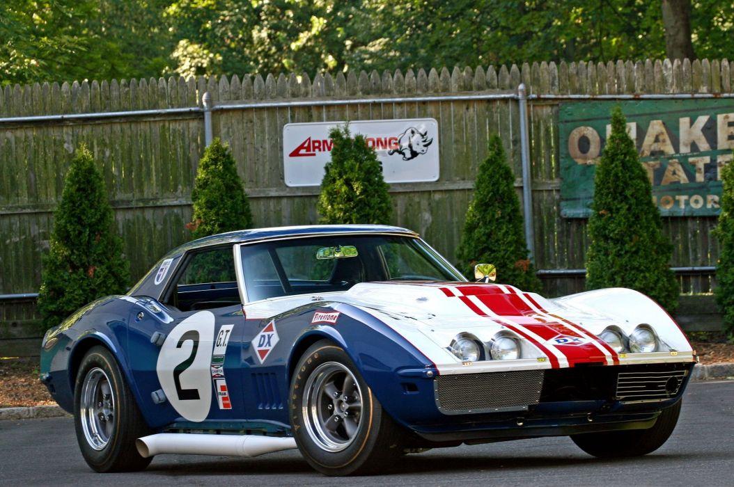 1968 chevy Corvette cars (c3) yenko cars racecars wallpaper