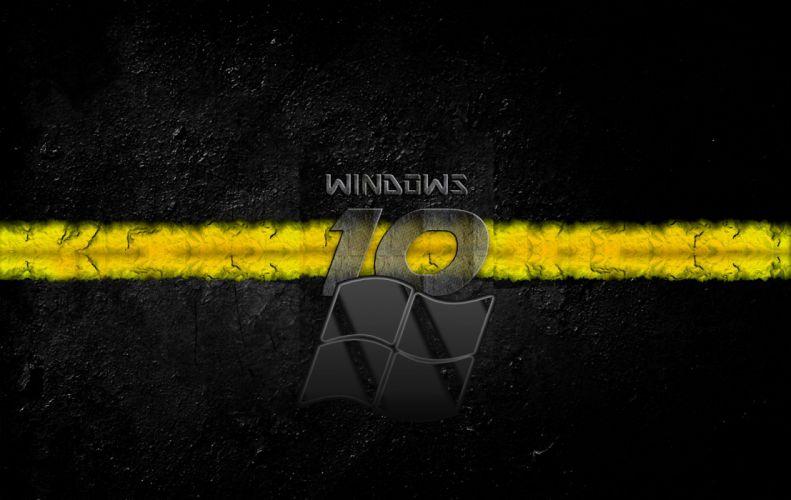Windows 10 Yellow wallpaper