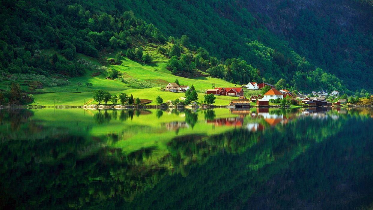 Beautiful Nature lake tree  wallpaper