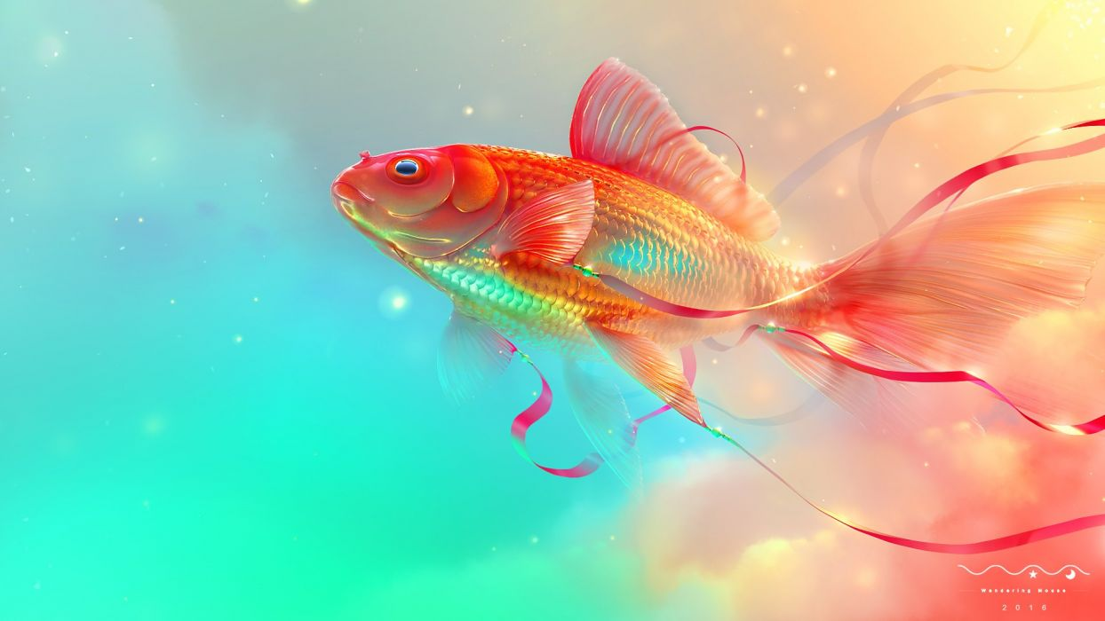 fish digital  wallpaper