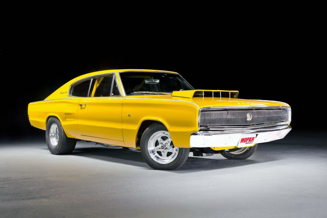 1966 dodge charger yellow big-block wallpaper