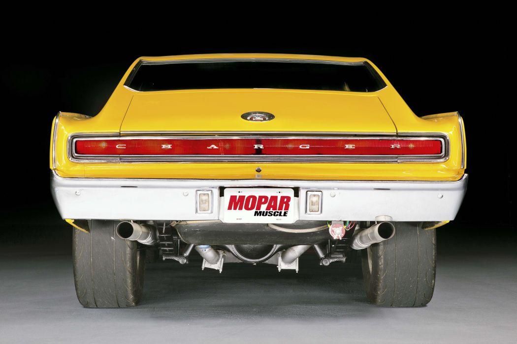 1966 dodge charger yellow big-block wallpaper