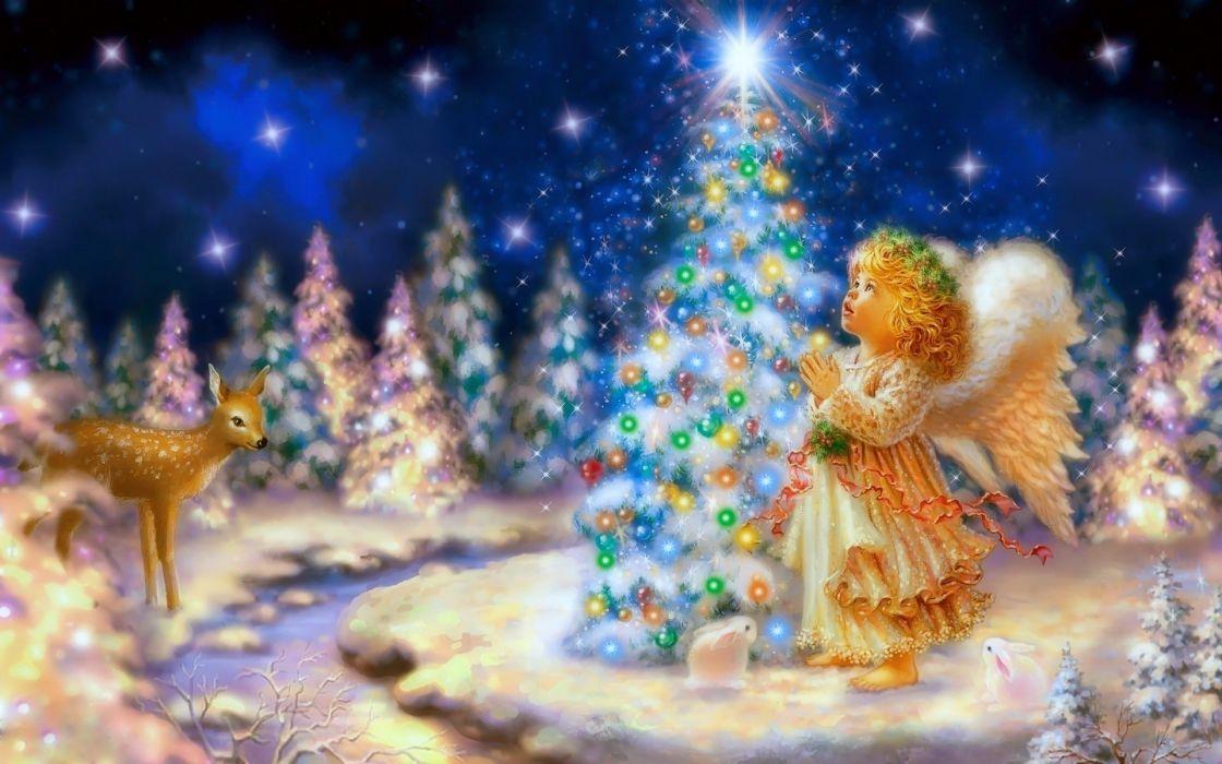 Cute christmas angel wallpaper