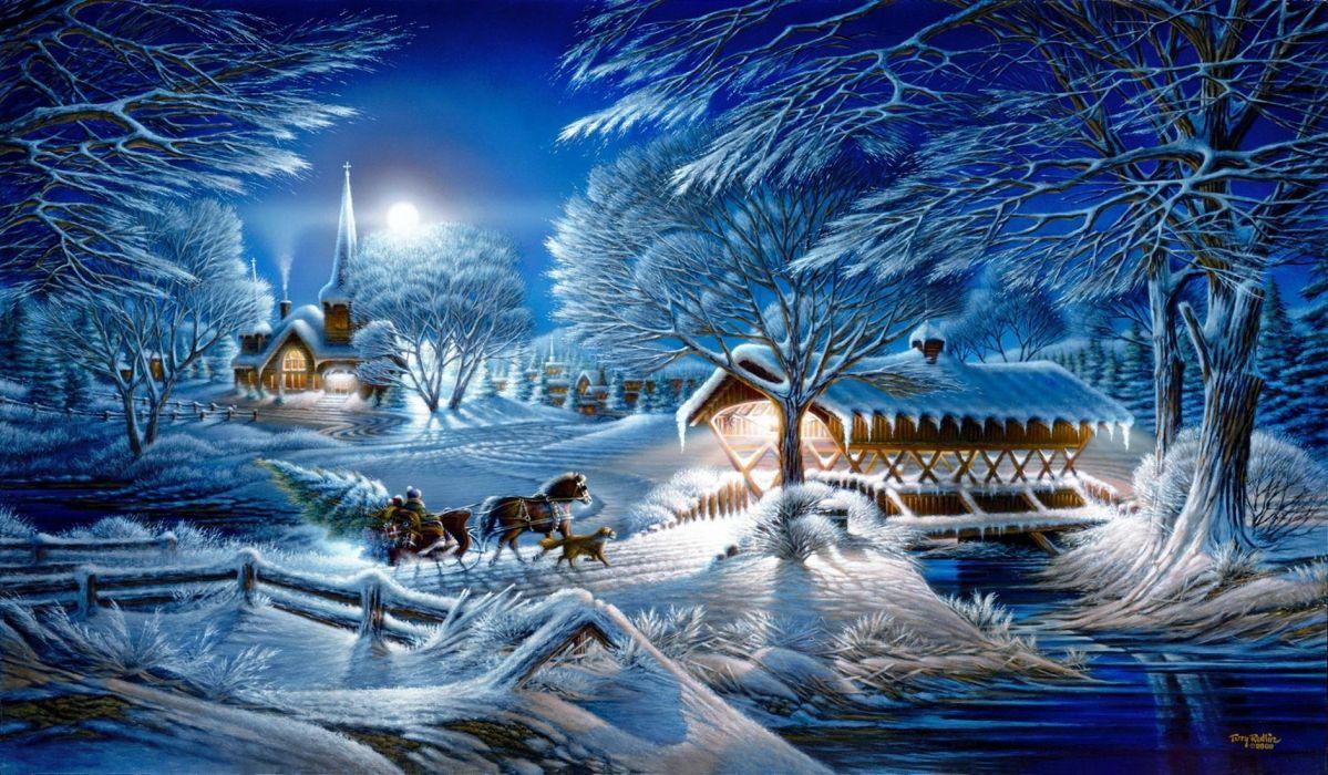 Evening frost wallpaper