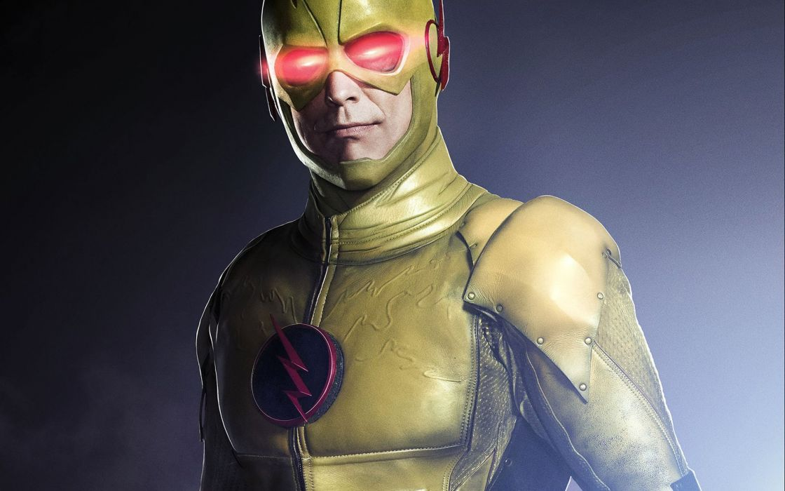 Flash serie-Man in yellow suit-reverse flash wallpaper
