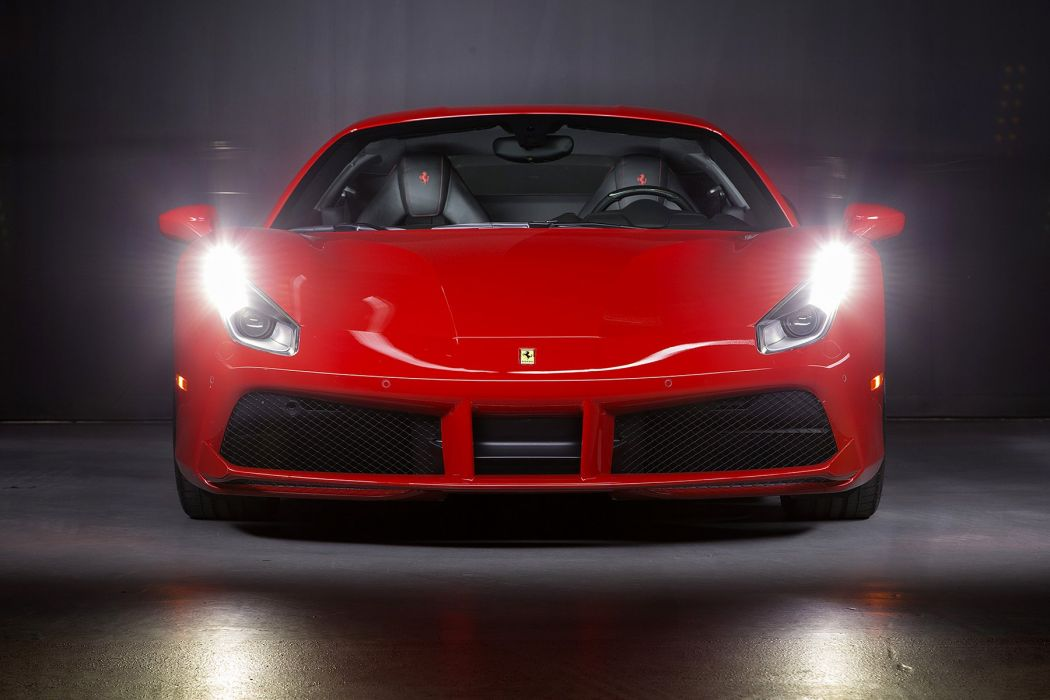 Ferrari 488 GTB cars red 2015 wallpaper