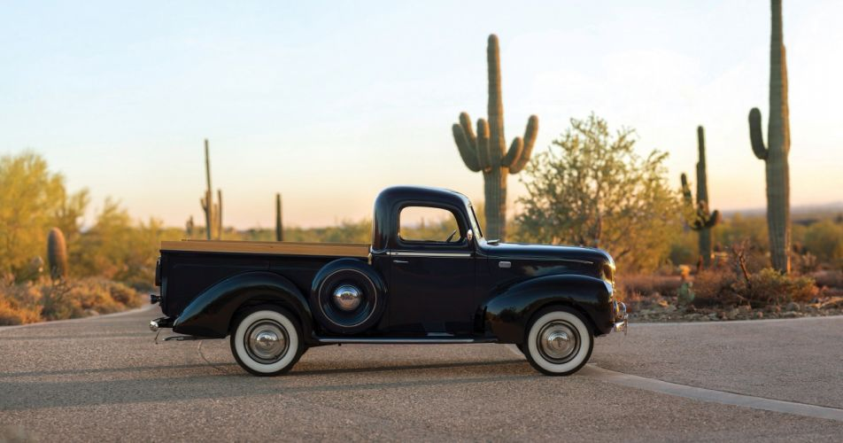 1941 Ford Deluxe Pickup truck black wallpaper