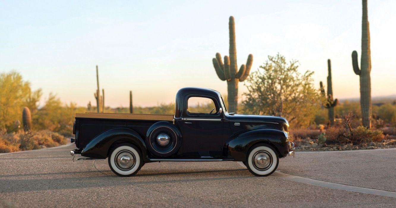 1941 Ford Deluxe Pickup truck black wallpaper