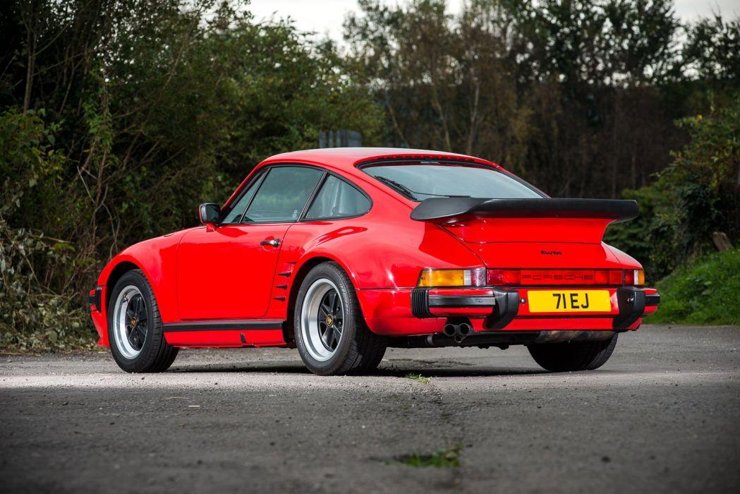 Porsche 911 Turbo (3 3) Coupe (SE) Flachbau UK-spec (930) cars red 1986  wallpaper