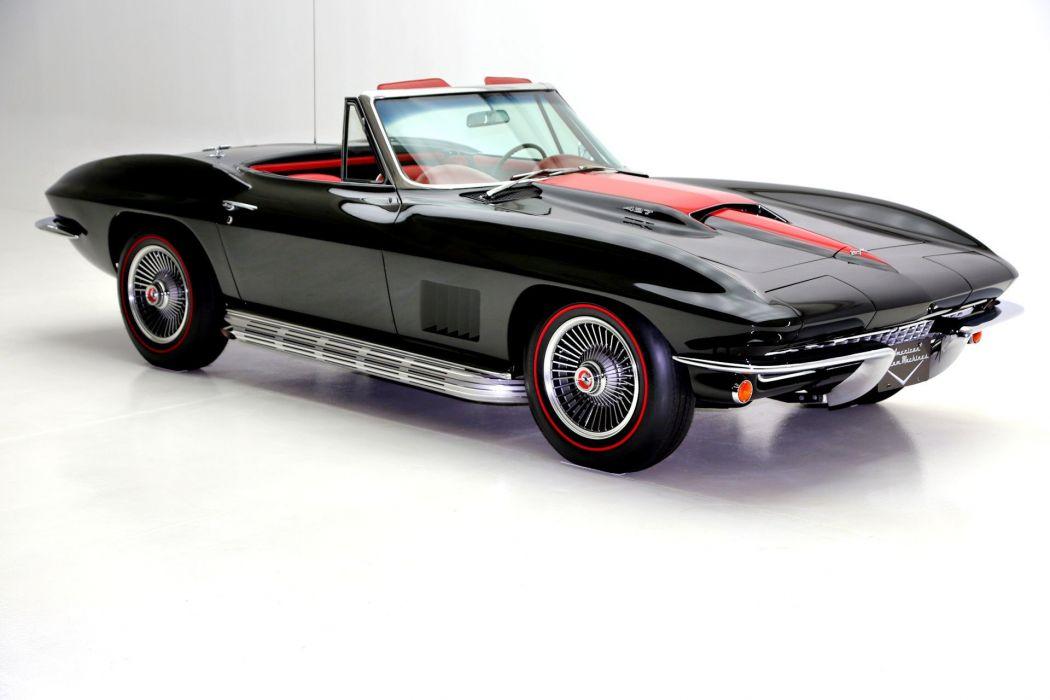 1967 chevrolet corvette 427 (c2) cars convertible black wallpaper