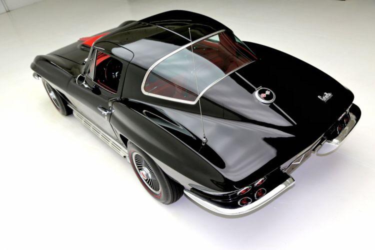 1967 chevrolet corvette 427 (c2) cars coupe black wallpaper